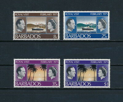 Barbados  416-19 MNH, Royal Visit, 1975