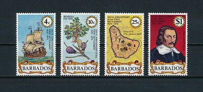 Barbados  428-32 MNH, First Settlement, 1975