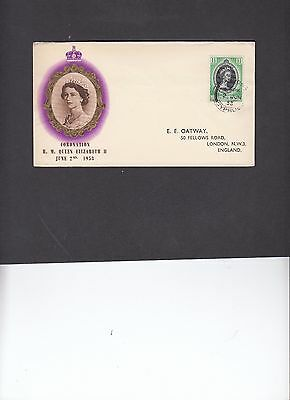 Cyprus 1953 Coronation illustrated First Day Cover