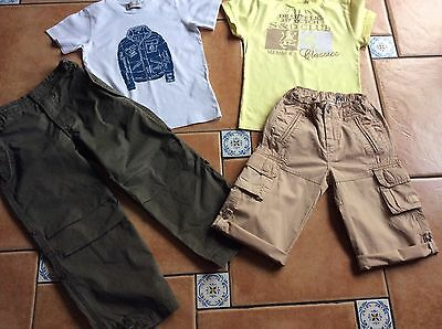MUSTSEE Designer * Maharishi Embroided Pants*Moncler Tshirt * S&D 2Piece * 4Yr