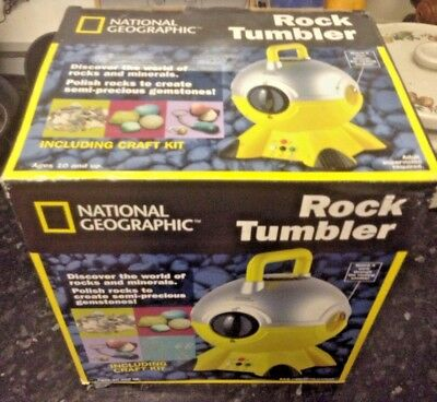 NEW National Geographic Rock Tumbler including craft kit Still boxed - complete