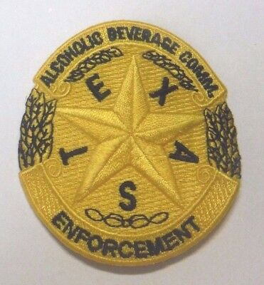 "Texas Alcoholic Beverage Commission Enforcement 3"" Patch Unused"