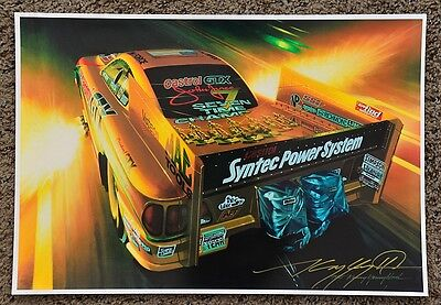 NEW KENNY YOUNGBLOOD SIGNED TRUNKLOAD OF TROPHIES FUNNY CAR PRINT john force