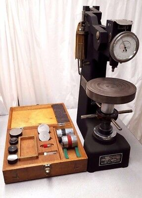 Rockwell Hardness Tester Wilson Metal Testing with Tooling Weights in wooden box