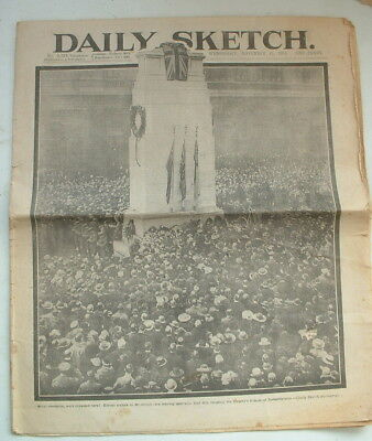 1919 Ww1 First Armistice Anniversary Newspaper