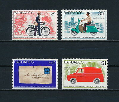 Barbados  444-7 MNH, Post Office Anniversary, 1976