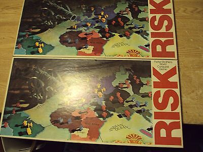 Lot of 2 Risk Game Parker Brothers 1975 Vintage Complete Strategy Classic Family