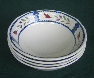 """Lot of 4 ADAMS ~ English Ironstone ~ LANCASTER ~ Coupe Cereal Bowls ~ 6"""""""