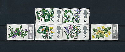 GREAT BRITAIN #488-93 MNH, Flowers, 1967