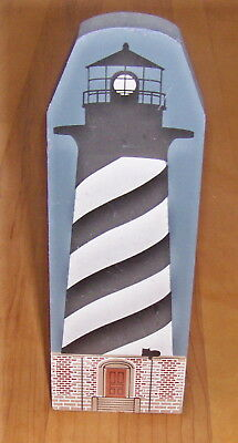 c1990 Cat's Meow Village Lighthouse Series CAPE HATTERAS, signed Faline 9