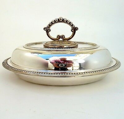 Silver Lidded Entree Dish With Detachable Handle By G C W