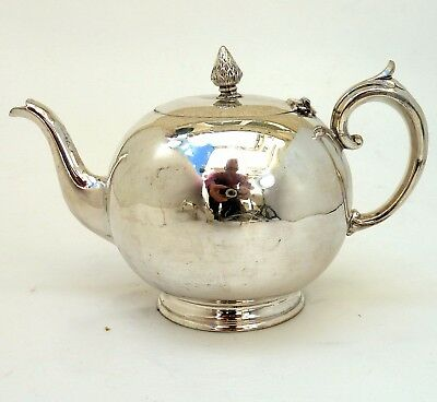 Silver Classic Teapot With Scroll Handle By