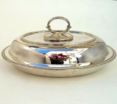 Silver Lidded Entree Dish With Detachable Handle