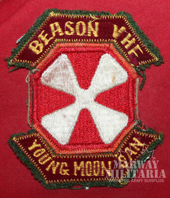 USA 8th Army BEASON VHF YOUNG MOON SAN Military Shoulder Flash / Patch (10794)