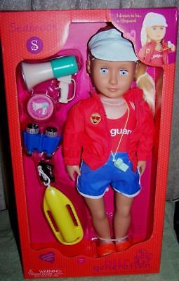 """Our Generation SEABROOK 18"""" Lifeguard Doll New"""