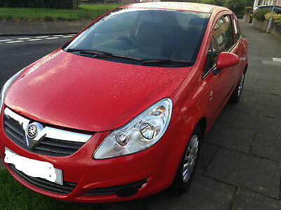 Red VAUXHALL CORSA 3 Door Hatchback, Manual, Petrol, 1.0l 12V Ecoflex S