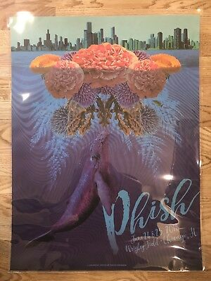Phish Poster Wrigley Field Chicago IL 6/24-25/16 Print Land Land 2016 Welker
