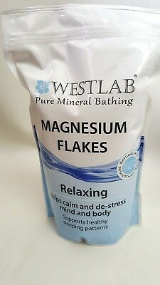 1kg Bath/Spa Westlab MAGNESIUM FLAKES Relaxing Calm De-Stress Mind & Body