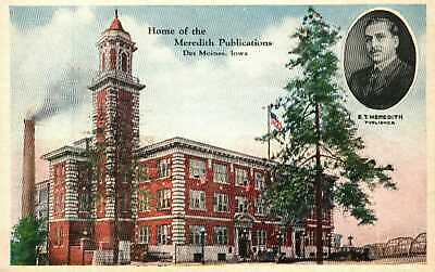 Postcard Home of the Meredith Publications Des Moines Iowa Better Homes Gardens