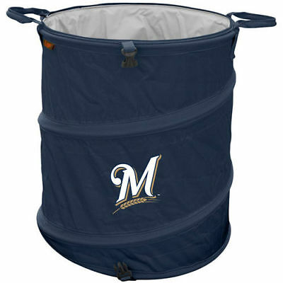 Milwaukee Brewers Collapsible 3-in-1 Trashcan Cooler - MLB