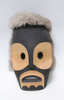 Makah Indian Ghost Mask by Spencer McCarty, 1982,  Neah Bay, signed