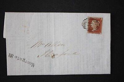 GB QV POSTAL HISTORY 1849 Imperforate 1d RED w 2 Lettters H-C Sleaford, on form