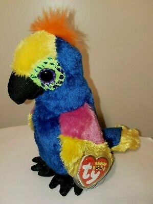 """Ty Beanie Boos ~ WYNNIE the 6"""" Hyacinth Macaw / Parrot ~ 2017 NEW with MINT TAGS"""