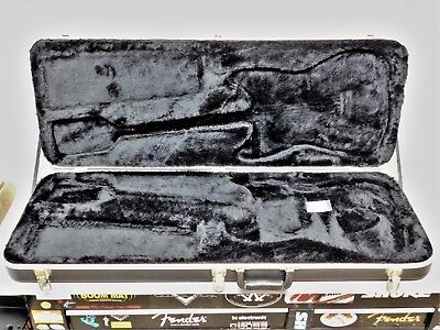 80's Fender USA Black HARDSHELL CASE for Strat / Tele American Electric Guitar