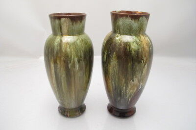 Antique Linthorpe Pottery Henry Tooth Christopher Dresser Vase X2 877