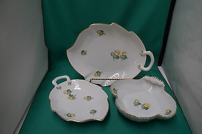 Royal Copenhagen B&G Kjobemhavn Denmark Daffodile Lot of 3 Server Trays