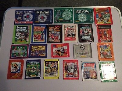 Panini, Topps , Merlins Unopened Sticker Pkts X 22 All Different