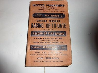 SPORTING CHRONICLE HORSE RACING UP TO DATE JAN 1st _Sept 6th 1938 over 500 pages