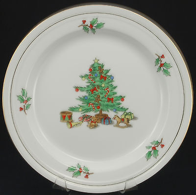 Tienshan Holiday Hostess Gold Trim Dinner Plate