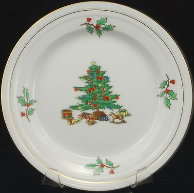 Tienshan Holiday Hostess Gold Trim Salad Plate