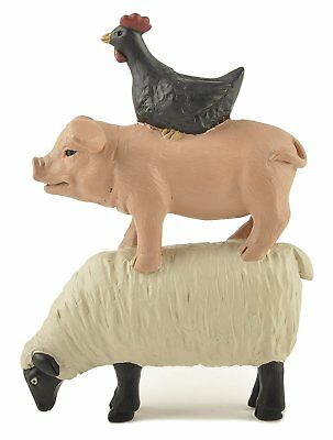 Blossom Bucket--Stacked Sheep, Pig and Chicken **So Cute**