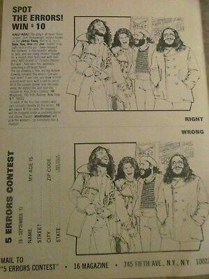 The James Gang, Full Page Vintage Clipping