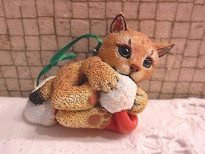 Danbury Mint LYNX Baby Animals Christmas Ornament with Tag