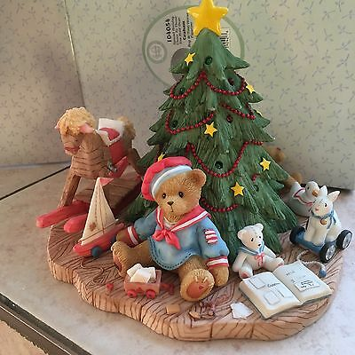 Cherished  Teddies Graham Spread Holiday To Those You Hold Dear #104054 lites up