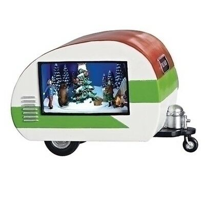 Amusements Musical Trailer with Rotating Scene Lighted Christmas Figurine 130209