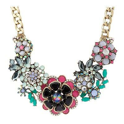 """Joan Rivers Jeweled Bouquet 18"""" Statement Necklace with 3"""" Extender"""