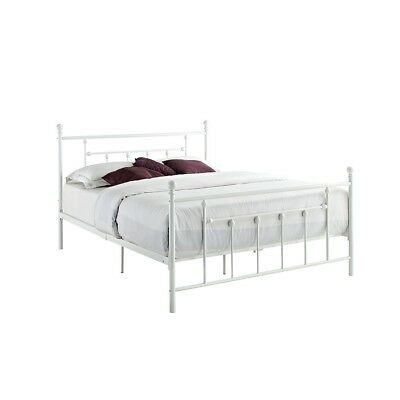 DHP - Manila Queen Metal Bed, White