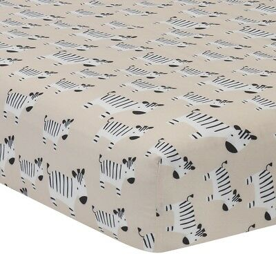 Lambs & Ivy Signature Tanzania Safari Fitted Crib Sheet - Tan/Gray