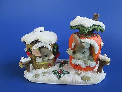 """Charming Tails Figurine Fitz & Floyd """"Our House To Yours""""  Christmas  87/622 GC"""