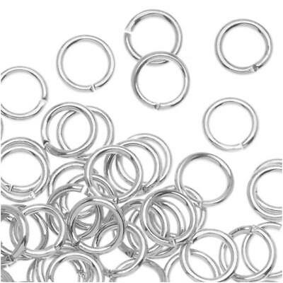 5mm Open Jump Rings 20 Gauge Silver Plated (100 Pieces)
