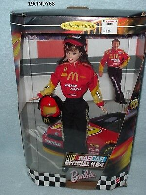 """1999 Collector Edition """"nascar Official #94"""" Barbie Doll # By Mattel"""