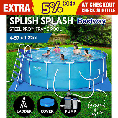 Bestway Steel Pro™ Frame Swimming Pool Above Ground Filter Pump 4.57 x 1.22M