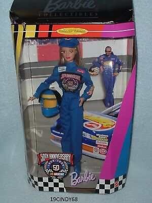"""1998 Collector Edition """"50Th Anniversay Nascar"""" Barbie Doll #20442 By Mattel"""