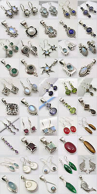 Wholesale Lot! Silver Earrings Pendants Sets! 25 Sets!