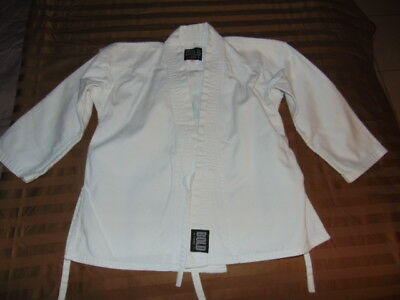 WHITE KARATE UNIFORM TOP Youth Size 0 COTTON BLEND Personal Best COSTUME Small S