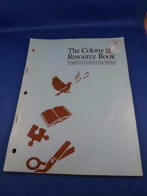 Colony Resource Book Beaver Leader Handbook Supplement 1986 Crafts Music Games